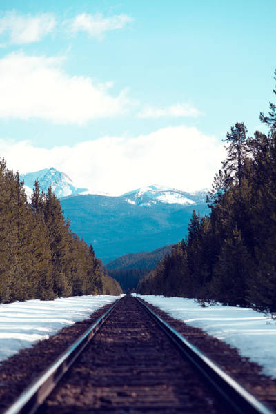 Canadian National Railway Photograph - Train To Mountains by Kim Fearheiley