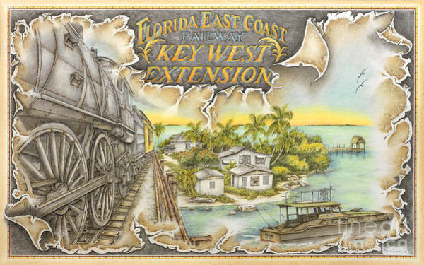 Train To Paradise Art Print by Mike Williams