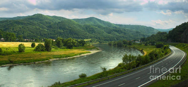 Photograph - Train To Prague -  River by Gregory Dyer