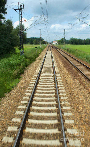 Photograph - Train To Prague - Train Tracks by Gregory Dyer