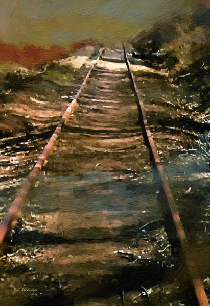 Painting - Train Track To Hell by RC DeWinter