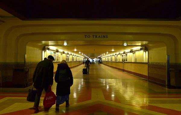 Station To Station Photograph - Train Tunnel by Fraida Gutovich