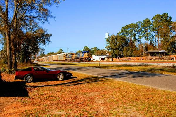 Photograph - Train Watching In Folkston by Donald Williams