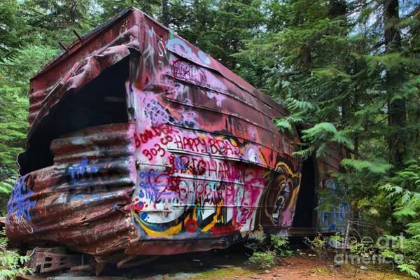 Photograph - Train Wreck Bursting Out Of The Forest by Adam Jewell