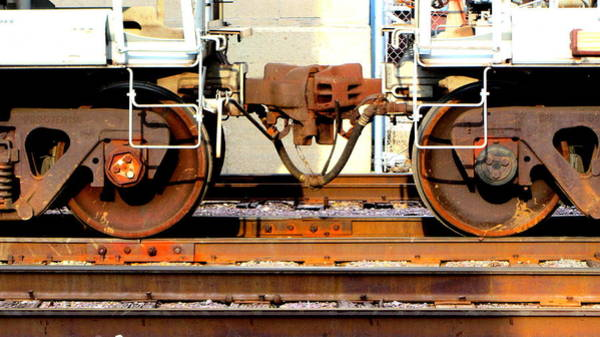 Photograph - Train Yard Close Up 3 by Anita Burgermeister