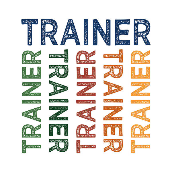 Fitness Digital Art - Trainer Cute Colorful by Flo Karp