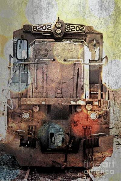 Wall Art - Photograph - Trains At Rest by Marcia Lee Jones