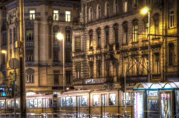 Famous Places Digital Art - Tram Night by Nathan Wright