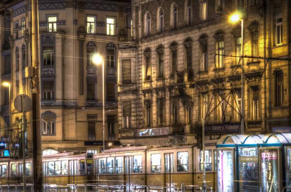 Eastern Europe Digital Art - Tram Night by Nathan Wright