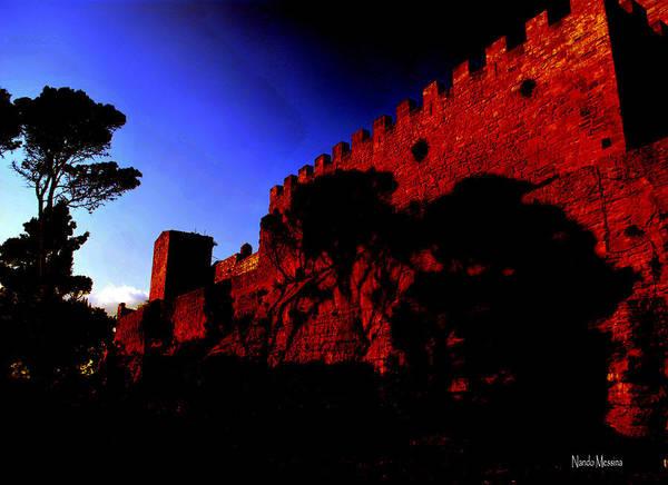 Tramonto Photograph - Tramonto - Castello Di Lombardia Del 1110 by Ferdinando Messina