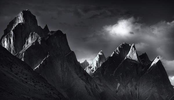 Rock Tower Photograph - Trango Towers by Fei Shi