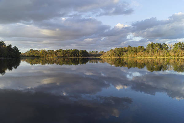 Photograph - Tranquil Autumn Lake In The Evening by MM Anderson