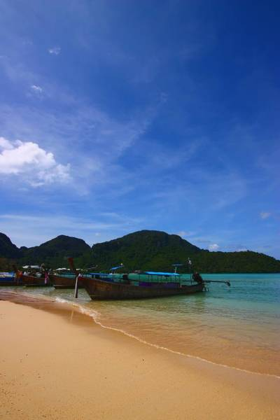 Phi Photograph - Tranquil Beach by FireFlux Studios