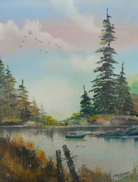 Fencepost Painting - Tranquil   # 057 by Frederick  Skidmore