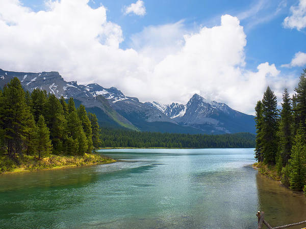 Photograph - Tranquil Lake In The Canadian Rockies by Brenda Kean