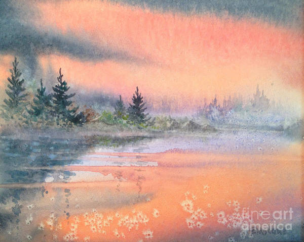Wall Art - Painting - Tranquil Lake by Teresa Ascone