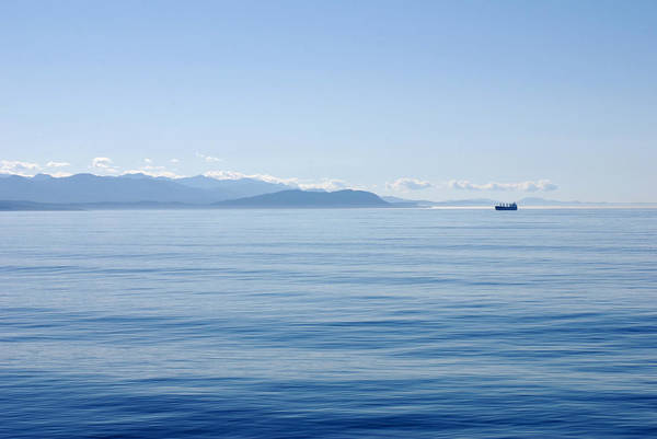 Port Of Vancouver Wall Art - Photograph - Tranquility At Sea. Port Angeles Washington by Connie Fox