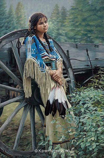 Wagon Wheel Digital Art - Tranquill Dreamer by Karen Noles