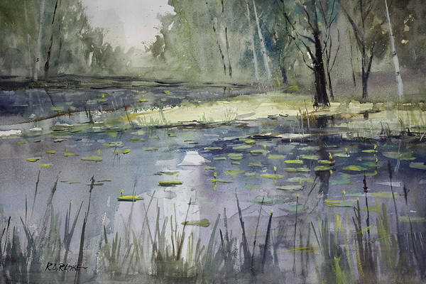 Water Lily Painting - Tranquillity by Ryan Radke