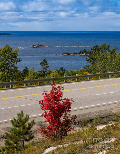 Photograph - Trans-canada Highway Along The North Shore Of Lake Superior by Les Palenik