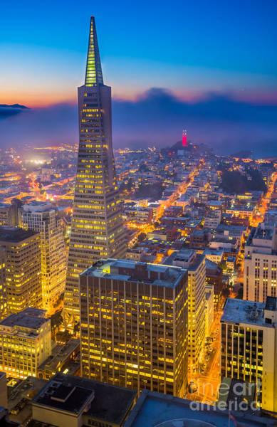 San Francisco Bay Area Photograph - Transamerica Cityscape by Inge Johnsson