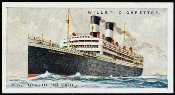 1924 Drawing - Transatlantic Liner Of  Navigazione by Mary Evans Picture Library
