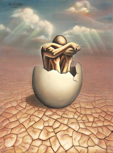 Broken Egg Painting - Transcendental Shame by Roch  Fautch