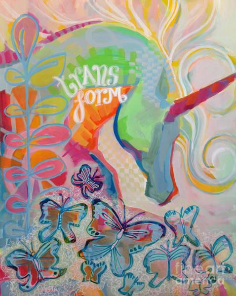 Unicorn Wall Art - Painting - Transform by Kimberly Santini