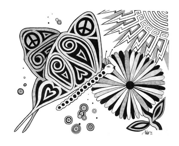 Drawing - Transformation  by Barb Cote