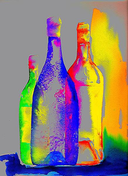 Wall Art - Painting - Transparent Bottles by Joy Bradley