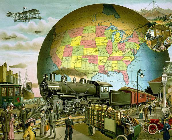 Digital Art - Transportation 1910 by Unknown