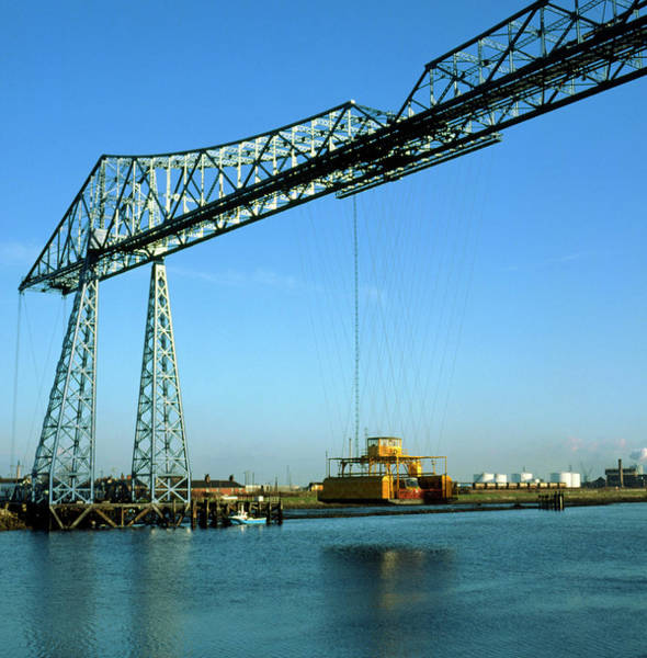 Transporter Wall Art - Photograph - Transporter Bridge In Middlesborough by Simon Fraser/science Photo Library