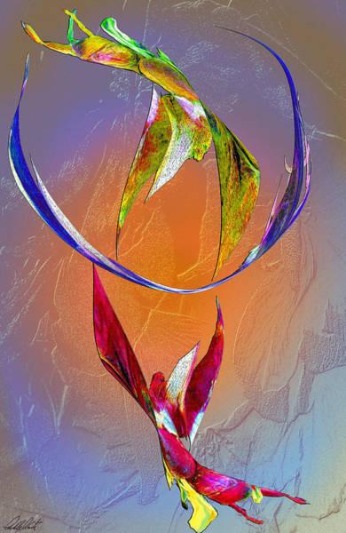 Trapeze Painting - Trapeze Angels by Michele Avanti