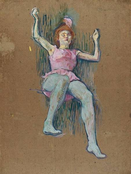 Trapeze Painting - Trapeze Artist At The Medrano Circus by Toulouse-Lautrec