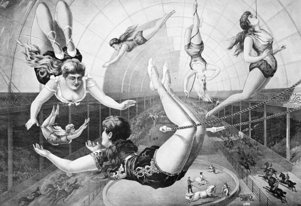 Painting - Trapeze Artists, 1890 by Granger