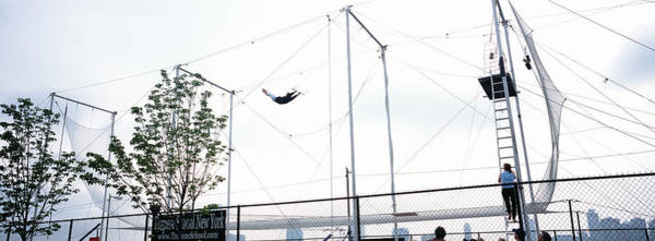 Chain Link Photograph - Trapeze School New York, Hudson River by Panoramic Images