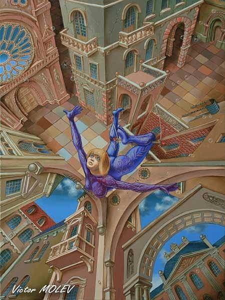 Painting - Trapeze by Victor Molev