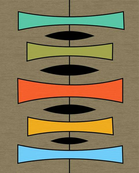 Digital Art - Trapezoids 2 On Brown by Donna Mibus
