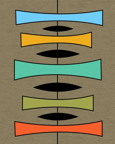 Digital Art - Trapezoids On Brown by Donna Mibus