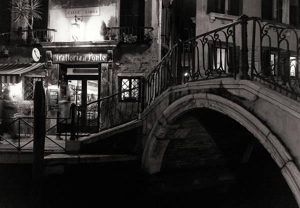 Sepia Photograph - Trattoria Al Ponte by Izabella V?gh
