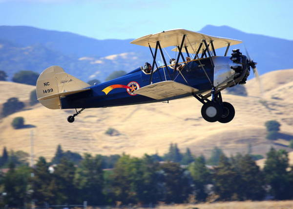 Photograph - Travel Air 4000 Fly-by Nc1499 by John King