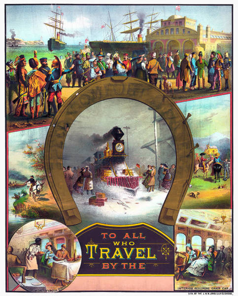 Photograph - Travel Poster, C1882 by Granger