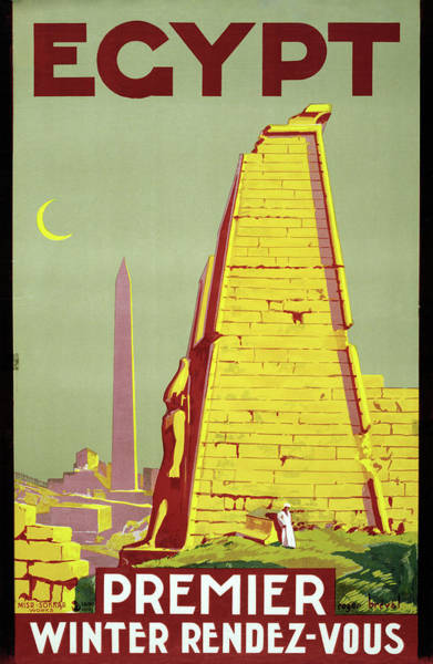 Wall Art - Drawing - Travel Poster, C1945 by Granger