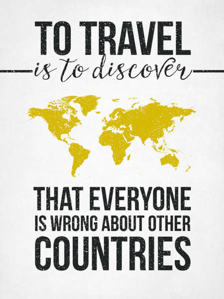 Europe Map Digital Art - Travel Quote by Aged Pixel