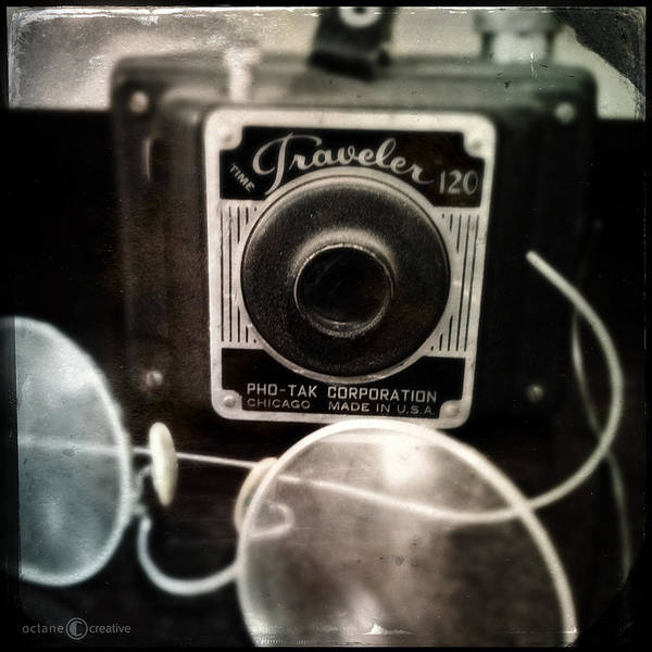 Photograph - Traveler And Grandpas Glasses by Tim Nyberg