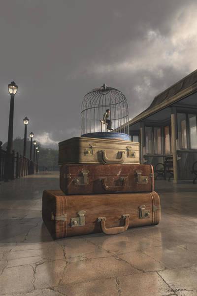 Stormy Digital Art - Traveling by Cynthia Decker