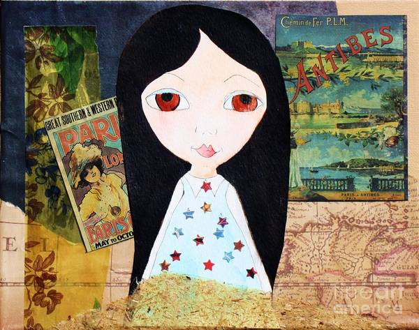 Painting - Traveling Little Girl by Melinda Etzold