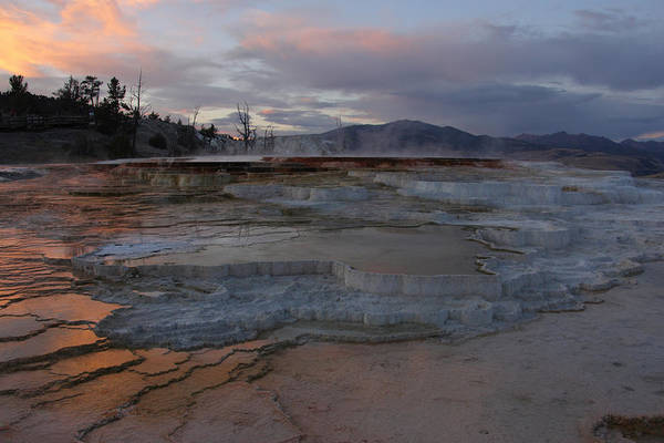 Photograph - Travertine Pools At Sunset by Theo OConnor
