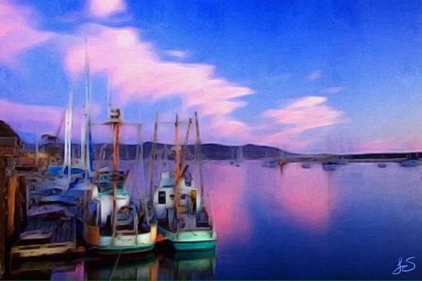 Morro Bay Digital Art - Trawlers At Rest by Jennifer Simpson