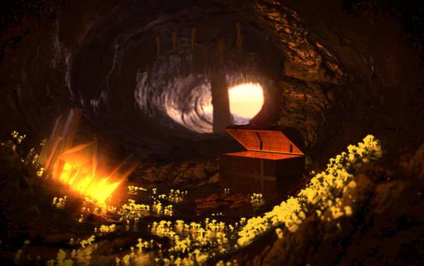 Hidden Treasures Digital Art - Treasure Cave by Brainwave Pictures